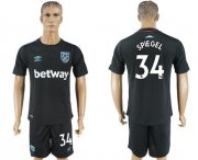 Wholesale Cheap West Ham United #34 Spiegel Away Soccer Club Jersey