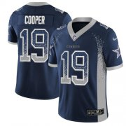 Wholesale Cheap Nike Cowboys #19 Amari Cooper Navy Blue Team Color Men's Stitched NFL Limited Rush Drift Fashion Jersey