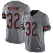 Wholesale Cheap Nike Bears #32 David Montgomery Silver Men's Stitched NFL Limited Inverted Legend Jersey