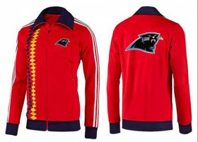 Wholesale Cheap NFL Carolina Panthers Team Logo Jacket Red