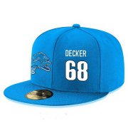 Wholesale Cheap Detroit Lions #68 Taylor Decker Snapback Cap NFL Player Light Blue with White Number Stitched Hat