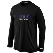 Wholesale Cheap Nike Tennessee Titans Authentic Font Long Sleeve T-Shirt Black