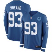 Wholesale Cheap Nike Colts #93 Jabaal Sheard Royal Blue Team Color Men's Stitched NFL Limited Therma Long Sleeve Jersey