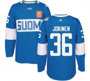 Wholesale Cheap Team Finland #36 Jussi Jokinen Blue 2016 World Cup Stitched NHL Jersey
