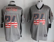 Wholesale Cheap Nike Bears #34 Walter Payton Grey Men's Stitched NFL Elite USA Flag Fashion Jersey