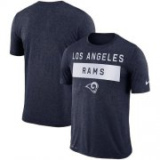 Wholesale Cheap Men's Los Angeles Rams Nike College Navy Sideline Legend Lift Performance T-Shirt