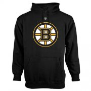 Wholesale Cheap Boston Bruins Old Time Hockey Big Logo with Crest Pullover Hoodie Black