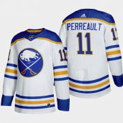 Cheap Buffalo Sabres #11 Gilbert Perreault Men's Adidas 2020-21 Away Authentic Player Stitched NHL Jersey White
