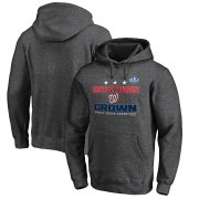 Wholesale Cheap Washington Nationals Majestic 2019 World Series Champions Cut Off Pullover Hoodie Heather Charcoal
