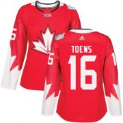 Wholesale Cheap Team Canada #16 Jonathan Toews Red 2016 World Cup Women's Stitched NHL Jersey