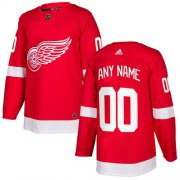 Wholesale Cheap Men's Adidas Red Wings Personalized Authentic Red Home NHL Jersey