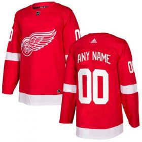 Wholesale Cheap Men\'s Adidas Red Wings Personalized Authentic Red Home NHL Jersey