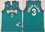 Wholesale Cheap Memphis Grizzlies #3 Shareef Abdur-Rahim ABA Hardwood Classics Green Throwback Swingman Jersey