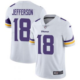 Wholesale Cheap Nike Vikings #18 Justin Jefferson White Youth Stitched NFL Vapor Untouchable Limited Jersey