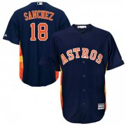 Wholesale Cheap Astros #18 Aaron Sanchez Navy Blue New Cool Base Stitched MLB Jersey