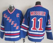 Wholesale Cheap Rangers #11 Mark Messier Blue CCM Heroes of Hockey Alumni Stitched NHL Jersey