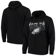 Wholesale Cheap Philadelphia Eagles G-III Sports by Carl Banks Perfect Season Full-Zip Hoodie Black