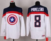 Wholesale Cheap Olympic Team USA #8 Joe Pavelski White Captain America Fashion Stitched NHL Jersey