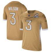 Wholesale Cheap Seattle Seahawks #3 Russell Wilson Nike 2020 NFC Pro Bowl Game Jersey Gold