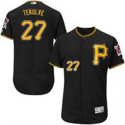 Wholesale Cheap Pirates #27 Kent Tekulve Black Flexbase Authentic Collection Stitched MLB Jersey