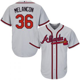 Wholesale Cheap Braves #36 Mark Melancon Grey New Cool Base Stitched MLB Jersey