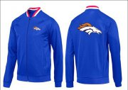 Wholesale Cheap NFL Denver Broncos Team Logo Jacket Blue_1