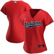 Wholesale Cheap Cleveland Indians Nike Women's Alternate 2020 MLB Team Jersey Red