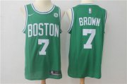 Wholesale Cheap Nike Boston Celtics 7 Jaylen Brown Green NBA Swingman Jersey