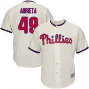 Wholesale Cheap Phillies #49 Jake Arrieta Cream Cool Base Stitched Youth MLB Jersey