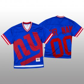 Wholesale Cheap NFL New York Giants Custom Blue Men\'s Mitchell & Nell Big Face Fashion Limited NFL Jersey
