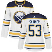 Wholesale Cheap Adidas Sabres #53 Jeff Skinner White Road Authentic Women's Stitched NHL Jersey