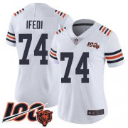Wholesale Cheap Nike Bears #74 Germain Ifedi White Alternate Women's Stitched NFL Vapor Untouchable Limited 100th Season Jersey