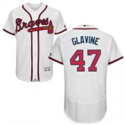 Wholesale Cheap Braves #47 Tom Glavine White Flexbase Authentic Collection Stitched MLB Jersey
