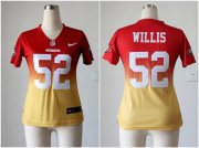 Wholesale Cheap Nike 49ers #52 Patrick Willis Red/Gold Women's Stitched NFL Elite Fadeaway Fashion Jersey