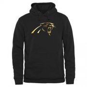 Wholesale Cheap Men's Carolina Panthers Pro Line Black Gold Collection Pullover Hoodie