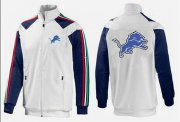 Wholesale Cheap NFL Detroit Lions Team Logo Jacket White