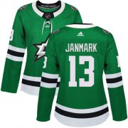 Wholesale Cheap Adidas Stars #13 Mattias Janmark Green Home Authentic Women's Stitched NHL Jersey