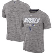 Wholesale Cheap Kansas City Royals Nike Authentic Collection Velocity Team Issue Performance T-Shirt Gray