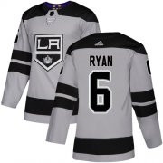 Wholesale Cheap Adidas Kings #6 Joakim Ryan Gray Alternate Authentic Stitched Youth NHL Jersey