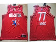 Wholesale Cheap Men's Dallas Mavericks #77 Luka Doncic Red Jordan Brand 2020 All-Star Game Swingman Stitched NBA Jersey