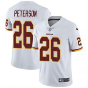 Wholesale Cheap Nike Redskins #26 Adrian Peterson White Men's Stitched NFL Vapor Untouchable Limited Jersey