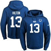 Wholesale Cheap Nike Colts #13 T.Y. Hilton Royal Blue Name & Number Pullover NFL Hoodie