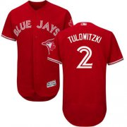 Wholesale Cheap Blue Jays #2 Troy Tulowitzki Red Flexbase Authentic Collection Canada Day Stitched MLB Jersey
