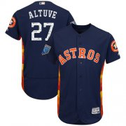 Wholesale Cheap Astros #27 Jose Altuve Navy Blue 2018 Spring Training Authentic Flex Base Stitched MLB Jersey