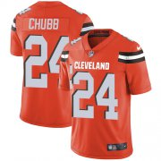 Wholesale Cheap Nike Browns #24 Nick Chubb Orange Alternate Youth Stitched NFL Vapor Untouchable Limited Jersey