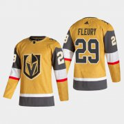 Cheap Vegas Golden Knights #29 Marc-Andre Fleury Men's Adidas 2020-21 Authentic Player Alternate Stitched NHL Jersey Gold