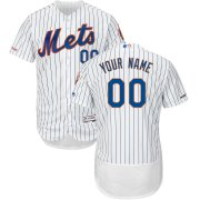 Wholesale Cheap New York Mets Majestic Home Flex Base Authentic Collection Custom Jersey White