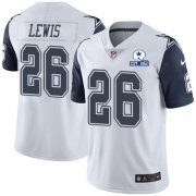 Wholesale Cheap Nike Cowboys #26 Jourdan Lewis White Men's Stitched With Established In 1960 Patch NFL Limited Rush Jersey