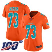 Wholesale Cheap Nike Dolphins #73 Austin Jackson Orange Women's Stitched NFL Limited Inverted Legend 100th Season Jersey