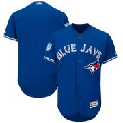 Wholesale Cheap Blue Jays Blank Blue 2019 Spring Training Flex Base Stitched MLB Jersey